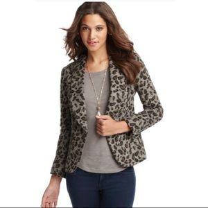 LOFT   Leopard Print Flannel Jacket